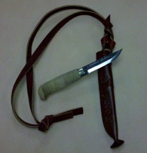 Marttiini Bushcraft Knife w/ Leather Sheath