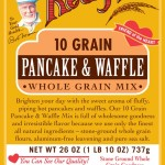 Bob's Red Mill 10 Grain Pancake & Waffle Mix - LABEL FRONT