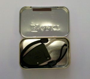 RSK Mk5 Packed in a Survival Tin