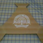 Step 5 (OPTIONAL): I applied a Vinyl Decal to prevent the dye from staining the leather where my logo is.