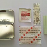 3 Adhesive Bandages, 1 Alcohol Prep Pad, 2 Sheets Waterproof Notepaper