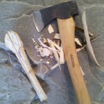 Step # 5: A nice sharp axe will do most of the work for you.