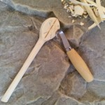 Step # 8: Once you complete the shape of the spoon, use a Spoon Hook Knife to carve out the spoon bowl.