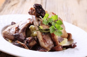 Roasted Lamp Chops with Morels