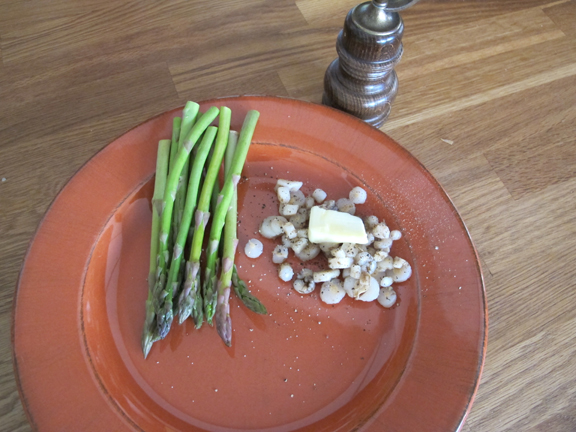 Dandelion Root - Plated with Asparagus