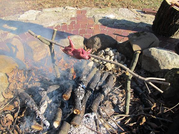 roasting squirrel